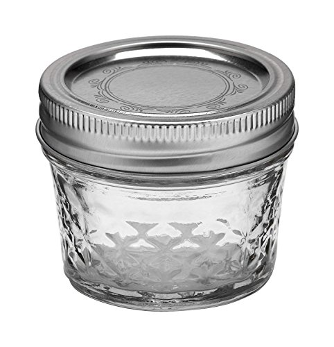 4oz Quilted Crystal Mason Jars