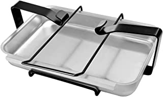 Stanbroil Aluminum Gas Grill Catch Pan and Holder/Grease Collection Pan Replacement Parts for Weber 7515