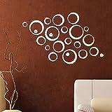 """Wall Sticker, Adesivi Murales, Carta da Pareti """"circolo Specchio"""" Decorazione Murali da Parete"""