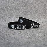 ZJZ Clippers No. 13 Starball Star Paul. George Signé Sports Bracelet Silicone Bracelet Ventilateurs Bijoux Épaissi (Color : Blue Powder)