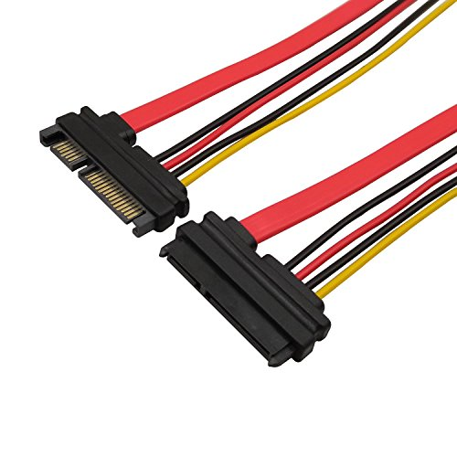 22pin (7 + 15) SATA Männlich Zu Weiblich Daten und Strom Combo Verlängerungskabel Verlängerung Kabel – Slimline SATA Verlängerungskabel – 50 cm
