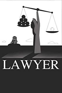 Lawyer: Lawyer Gift Journal 100 Blank Lined Page Matte Soft Cover Notebook, College Ruled (6 x 9 inch) Blank Lined Attorne...