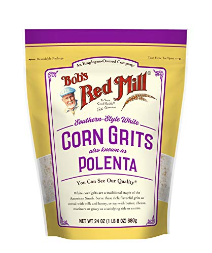 White Corn Grits / Polenta, 24 Ounce (Pack of 1)