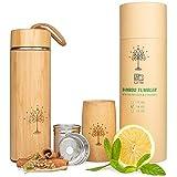 Best Tea Tumblers - m2olife Tea Tumbler / Thermos Set Bamboo Lid-Rope Review