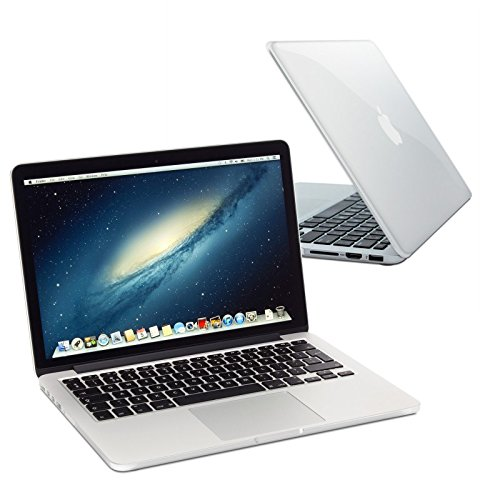 eFabrik beschermhoes voor Apple MacBook Pro Retina 13,3 inch scherm 33,78 cm (2015) Notebook Slim Case 2-Part Click System Laptop Hard plastic omhulsels (polycarbonaat) in transparant