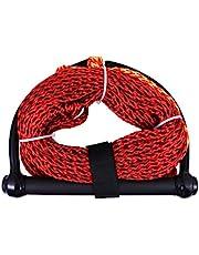 LIOOBO Cuerda de Esquí Acuático Cuerdas de Mango Flotante Mango de Cuerda de Wakeboard para Paseos en Bote Deportes Acuáticos Rodillera de Wakeboard Color Aleatorio