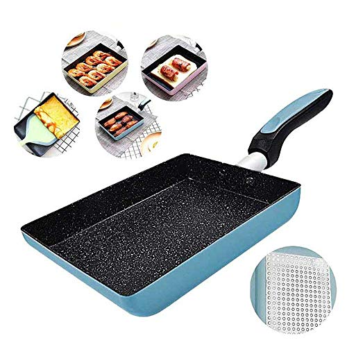 XHCP Omelette Pan/Pan, Best Nonstick Omelette Skillet, Stone Coating Cooking Pan, Dishwasher Safe, Induction Compatible