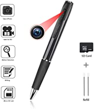 TINHUA Hidden Camera Pen,Spy Camera Pen Camcorder with Photo Taking,1.5 Hours Battery Life,Portable Digital Recorder with 32GB Memory and 2 Ink Refills Pocket DVR for Business and Conference