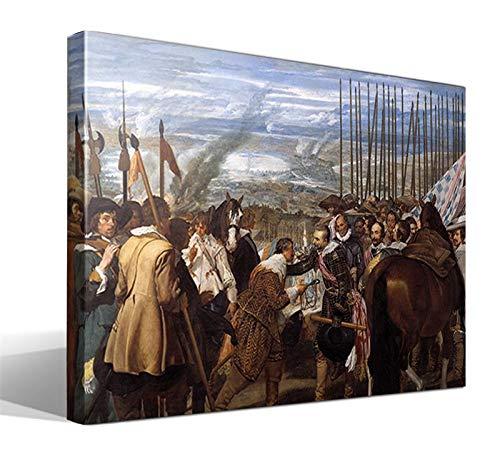 Cuadro Canvas Las lanzas o La rendición de Breda de Diego Rodríguez de Silva y Velázquez