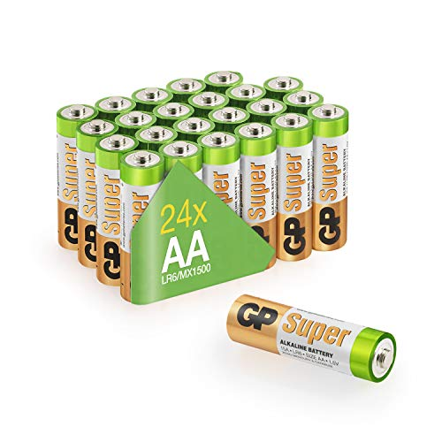 AA Batteries GP 24 pack 1.5 volt Performance Super Alkaline Batteries - Holds power up to 10 years