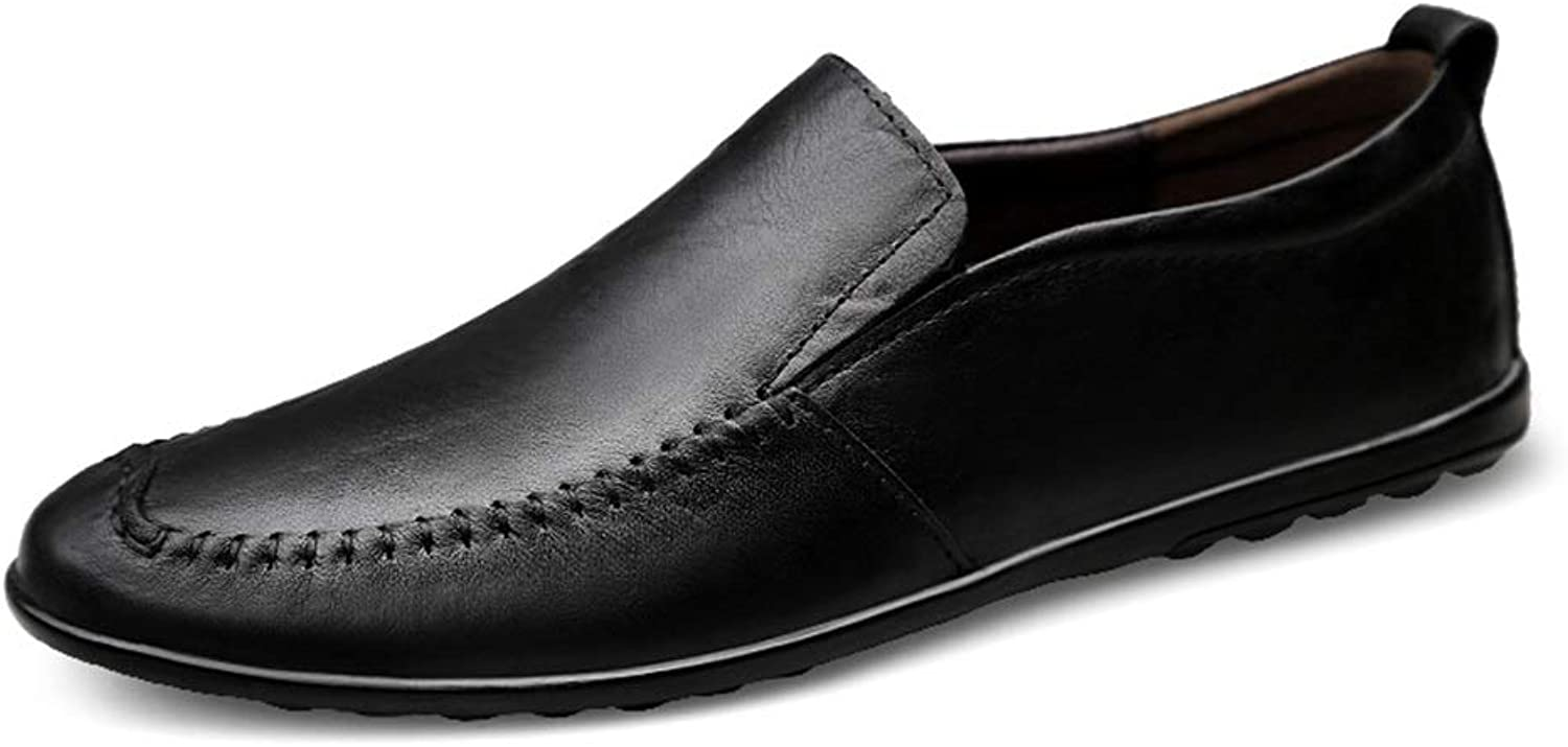 Xujw-shoes, 2019 Men's Loafers Flats Brown Black Wine Loafer Mens Leather Driving Loafers For Men Boat Moccasins Slip On Style OX Leather Fashion Sewing Round Toe (color   Black, Size   6.5 UK)