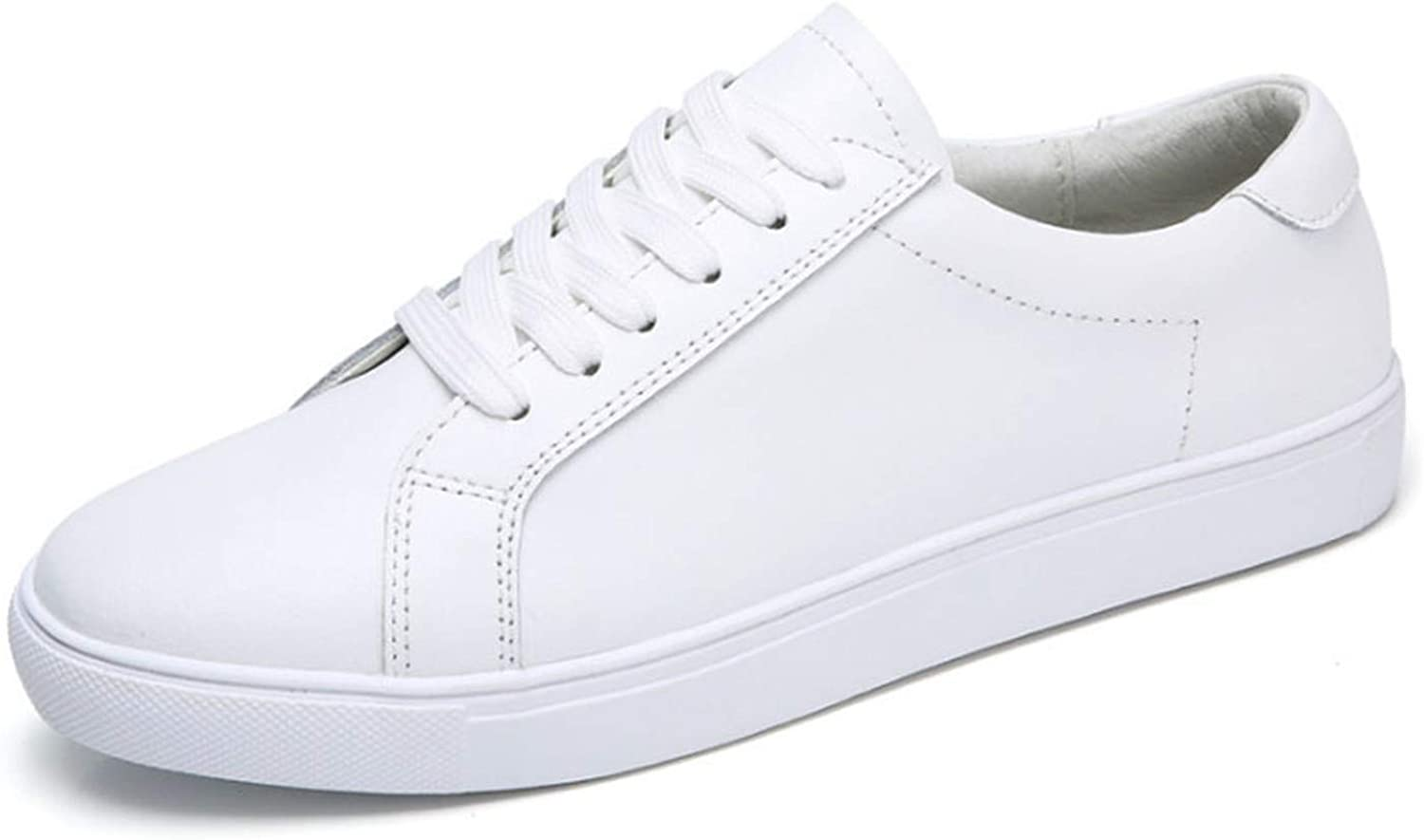 I Need-You Genuine Leather Sneakers Women White shoes 2018 Spring Platform shoes shoes women Lace-Up Tenis Feminino Casual Flats F7