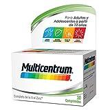 Multicentrum Adulto Complemento Alimenticio con 13 Vitaminas y 11 Minerales, Con Vitamina B1, Vitamina B6, Vitamina B12, Hierro, Vitamina D, Vitamina C, 30 Comprimidos