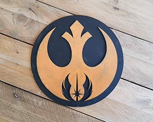 STAR WARS Orden Jedi Alianza Rebelde logo. Cartel en madera para decorar. Jedi, Jedi Knight, Luke Skywalker, Leia Organa, Force, Rey