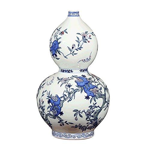XINYOUER Blauwe en Witte Bloemen Porselein Gourd Keramische Vaas Met Blad Takken - 15