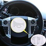 Adhesivo 3D para volante de coche ABS cromado 3 piezas para