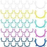 60 Piezas Clips de Portabobinas Soportes de Abrazaderas de Bobina Herramienta de Soporte de Clips de Hilo de Color para Hilo de Coser