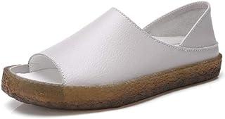 XL_nsxiezi Zapatos de Mujer Sandalias de Cuero Zapatillas Madre