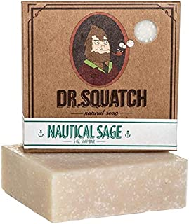 Natural Sage Soap for Men – Nautical Sage – Revitalizing Scent with Cypress, Lavender, Clary Sage Organic Oils – Bar Handm...