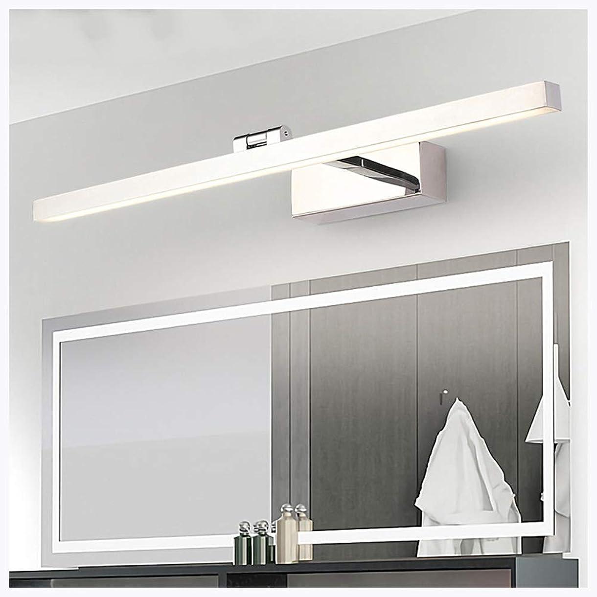 お酢前進確かな防曇LEDミラーフロントライト、ブラックアクリルシェードバスルーム調整可能防水LEDバニティミラーライト化粧台ミラーキャビネット,白,Naturallight