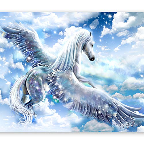 murando Fototapete Pegasus 300x210 cm Vlies Tapeten Wandtapete XXL Moderne Wanddeko Design Wand Dekoration Wohnzimmer Schlafzimmer Büro Flur Fantasie g-C-0068-a-b