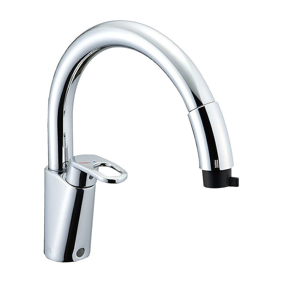 長くする思想騒乱LIXIL(リクシル) INAX キッチン用 ワンホールシングルレバー混合水栓 ハンドシャワー付 エコハンドル RSF-831Y