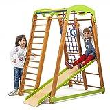 Centro de actividades con tobogán ˝Junior˝, red de escalada, anillos, escalera sueco, campo de juego infantil