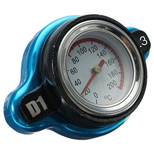 REFURBISHHOUSE Universal Indicatore della Temperatura dell'Acqua del Coperchio del Tappo del Radiatore Termostatico da 1,3 Bar dell'automobile