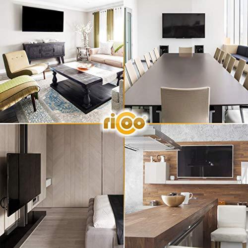RICOO TV Wand-Halter Wand-Halterung Schwenkbar Neigbar S2644 Curved LED LCD OLED 4K Fernseh-Halterung Flach für Flachbild-Fernseher Bildschirm Schwenk-Arm Wohnwand Moebel VESA | 200 | 400 | mm - 4