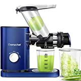 Juicer Machines AMZCHEF Cold Press Slow Juicer Slow Masticating Juicer Vegetables&Fruits Extractor 3'' Large Feed Chute Non-porous Filter Easy Clean ≤55dB 2 Speeds Jug Brush BPA-Free