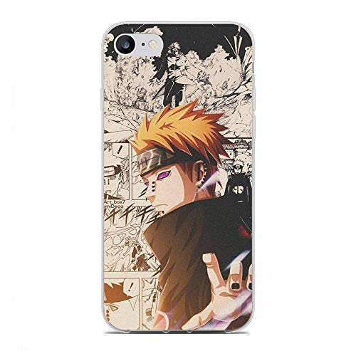 BFDRSGES Clear Case for Apple iPhone 6 Plus/6s Plus, Uzumaki-Naruto Hero Characters 9 Transparent Slim Fit TPU Flexible Frame Anti-Yellowing Silikon Coque Cover Case