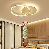 Salon Luminaire Plafonnier LED Dimmable avec Télécommande, Chambre Lampe Géométrique Design Lustre pour Salle à...