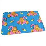 Babydesign Wickelauflage,Lustige Katzen-Aufblasbare Flamingo-Kühle Druckbaby-Änderungs-Auflagen Für Hauptreisebett 65x80cm