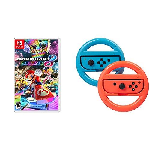 Mario Kart 8 Deluxe - Nintendo Switch and AmazonBasics Steering Wheel
