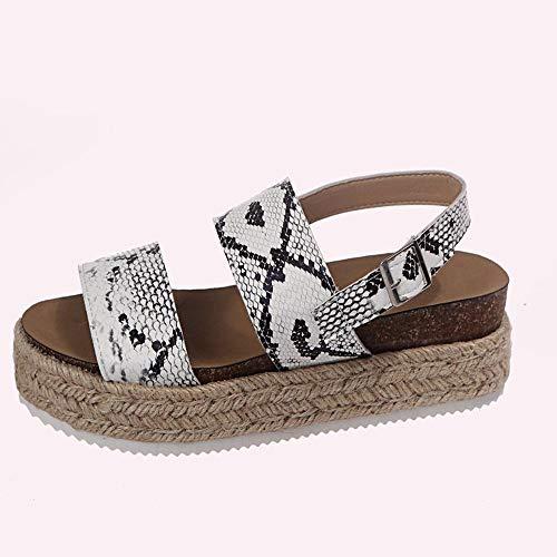 Sandalias Para Mujer Zapatos De Verano De Fondo Grueso Para Mujer Tacones Altos De Gran Tamaño
