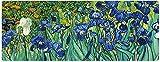 ロングマウスパッドマウスマット大油絵緑の植物青い花マウスパッドカスタマイズされたマウスパッド滑り止めゴムベースコンピューター用マウスパッドラップトップオフィスデスクアクセサリーマウスPa800X300X3mm(C / 155S)