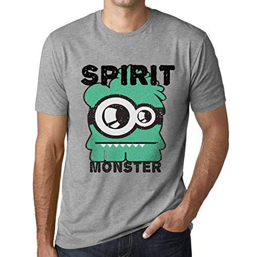 One in the City Hombre Camiseta Vintage T-Shirt Gráfico Spirit Monster Gris Moteado