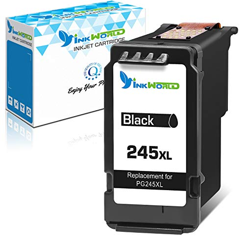 InkWorld Remanufactured 245XL Ink Cartridge Replacement for Canon PG245 243 PG243 Fit for Pixma TR4527 MG2522 MG3022 TR4522 TR4520 MG2922 MG2920 TS202 MX492 MX490 iP2820 TS302 MG2525 Printer (1 Black)