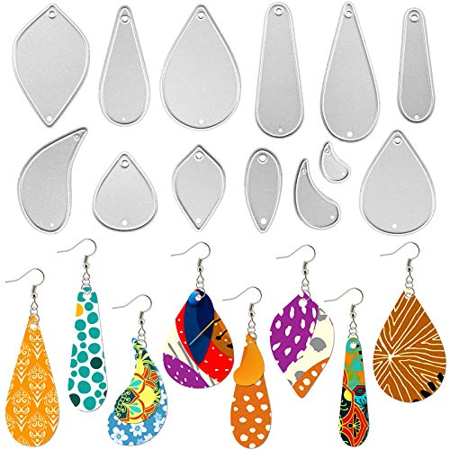 OOTSR 13 Pcs Metal Earring Die Cuts Template Cutting Stencil Embossing Tool for Making Earring Scrapbooking DIY Crafts and Gift Wrapping