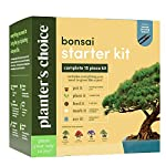 Bonsai Starter Kit - The Complete Growing Kit to Easily Grow 4 Bonsai Trees from Seed + Comprehensive Guide & Bamboo… 8 Everything needed to grow 4 beautiful bonsai trees - in one sleek box: Contains 4 types of seeds (Rocky Mountain Bristlecone Pine, Black Poui, Norway Spruce, and Flame Tree) stored in seed-safe vials for better germination, 4 biodegradable growing pots, 1 expanding-soil disc, 4 bamboo plant markers, 1 bonsai clipper and a beautiful, comprehensive and simple instruction booklet. #1 growth performance: Our rating speaks for itself! Planter's Choice is the only brand that stores the seeds in our seed-safe vials to ensure proper germination. The perfect diy gift: For mom, dad, him or her, this is the perfect gift to give on birthdays, anniversaries, holidays, housewarming, or any other occasion — ideal for beginners, masters, and children alike. See the excitement in their eyes as they experience growing indoor bonsai trees.