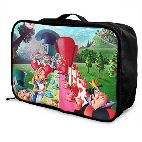 Alicia en el país de las maravillas bolsa de viaje ligera maleta portátil bolsas para mujeres hombres niños impermeable grande Bapa Caity