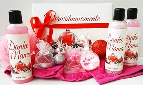 Wellness Weihnachtsgeschenk Set Danke Mama - hochwertige Geschenkbox - Pflege und Entspannung zur Weihnachtszeit