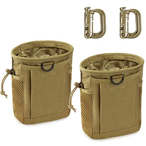 LIVANS Tactical Molle Dump Pouch, Magazine Recovery Pouch Drastring Ammo Bag Belt Utility Fanny Adjustable Military Holster Bag Outdoor for Airsoft Paintball Hunting Gear
