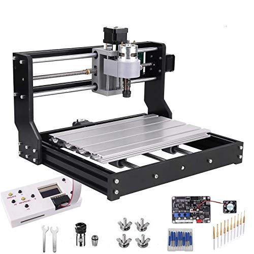 Actualice La CNC 3018 Pro GRBL Control DIY Mini CNC Machine, Mcwdoit Wood Router Engraver Con Controlador Fuera De Línea + 5mm ER11 PCB + 20PCS 3.175MM Router CNC Bits + 4 Juegos CNC Placas