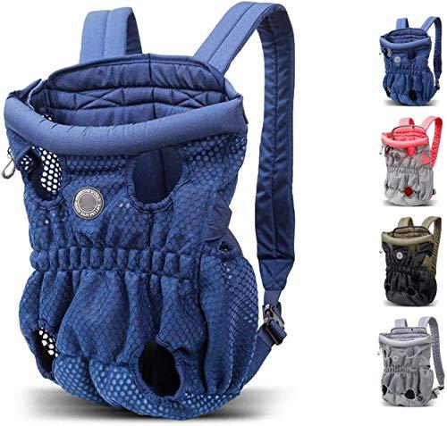 Dog travel bag Dog Backpack, Pet Backpack Carrier, Dog And Cat Carrying Bag, Front And Back Facing, for Small Medium And Large Sized Breeds, Comfortable Back And Shoulder Padding, Secure Strap SLZFLSS