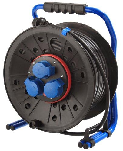 Preisvergleich Produktbild as - Schwabe 15014 ATS-Kabeltrommel 290 mm ø,  40 m H07RN-F 3G1.5,  IP44 Gewerbe,  Baustelle,  schwarz