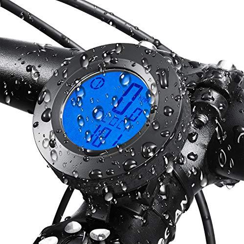 GESTAND Fahrrad Tacho Wasserdichte Fahrradcomputer Kabellos mit LCD Hintergrundbeleuchtung Fahrradkilometerzähler für Alle Fahrradtypen