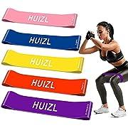 HUIZL Widerstandsbänder [5er Set] Fitnessband Fitnessbänder Tragebeutel Resistance Bands Gymnastikband aus Naturlatex für Muskelaufbau Pilates Yoga usw