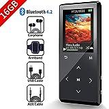 SUNNZO 16GB Métal Lecteur de Musique MP3 Bluetooth 50 Heures de Lecture,Une Touche pour verrouiller&Une Touche pour engistrer,la HiFi, Radio FM