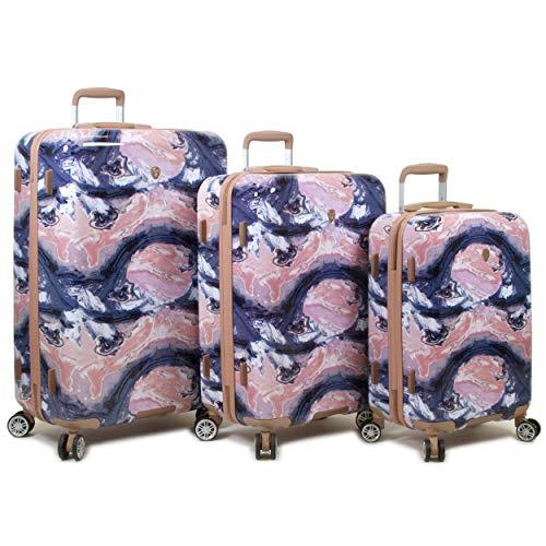 Rolite Marble Hardside 3-Piece Spinner Luggage Set